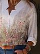 Long Sleeve Floral-Print V Neck Casual Shirts & Tops