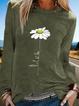 Long Sleeve Floral-Print Shirts & Tops