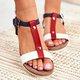 Multicolor Summer Flat Heel Sandals