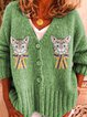 Green Casual Outerwear