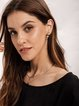 Polygon Golden Alloy Elegent Earrings