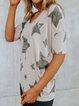 Casual Star Half Sleeve Cotton Shirts & Tops