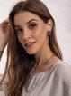 Purple Alloy Sweet Plain Fashion Earrings