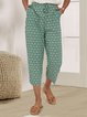 Green Holiday  Printed Floral Pant