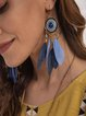 Blue Symple of Holiday Drop Earrings