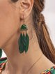 Green Casual  Symple of Holiday  Drop Earrings