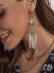 White Simple Alloy Casual Earrings