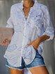 As Picture Vintage Cotton-Blend Shirts & Tops