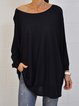 Long Sleeve Scoop Neckline Tops