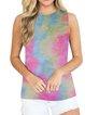 Plus Size Crew Neck Cotton-Blend Sleeveless Shirts & Tops