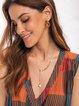 Golden Plain Alloy Necklaces