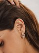 Silver Alloy Elegant Plain Earrings