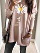 Light Pink Pockets Casual Sweatshirt