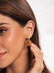 Light Coffee Plain Sexy Earrings