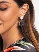 Black Plain Sexy Earrings
