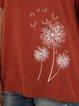 Dandelion Crew Neck Floral Printed Short Sleeve Top