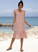 Pink Casual Paneled Dresses