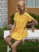 Yellow Short Sleeve Casual Shirts & Tops