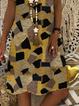 Plus size Casual Geometric V Neck Dresses