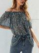 Blue Shift Floral Chiffon Holiday Shirts & Tops