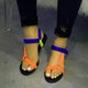 Pi Clue Flat Heel Leather Summer Sandals