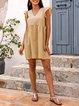 Yellow Boho Paneled Frill Sleeve Dresses