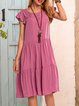 Pink Swing Cotton-Blend Holiday Dresses
