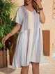 Blue Holiday Cotton-Blend Dresses