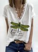 White Casual Printed Shirts & Tops