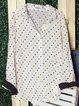 White Long Sleeve Cotton Shirt Collar Shirts & Tops