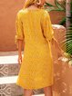 Yellow Chiffon Short Sleeve Dresses