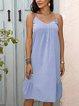 Blue Paneled Casual Dresses