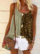 Pink Leopard Casual Cotton-Blend Shirts & Tops