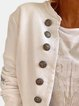 Casual Solid Color Long Sleeve Stand Collar Button Jacket