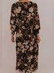 Black Floral Vintage Dresses