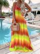 Summer Sleeveless Gradient Maxi Dresses