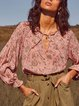Scoop Neckline Tribal Shift Casual Shirts & Tops