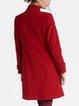 Plain Casual Stand Collar Shift Outerwear