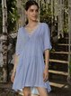 Blue Swing Boho Cotton-Blend Dresses