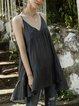 Black-Grey Casual V Neck Paneled Shirts & Tops
