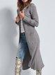 Long sleeve pit strip sweater cardigan casual long coat