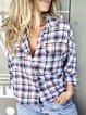 Checkered/plaid Shift Casual Shirts & Tops
