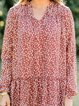 Multicolor Floral Long Sleeve Casual Shift Dresses