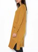 V-neck loose multi-pocket long top