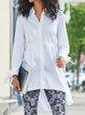 Casual long-sleeved shirt and midi shirt dress and top
