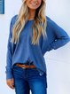 Loose Casual Round Neck Long Sleeve Sweater