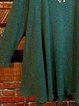 Loose Round Neck Long Sleeve Mini Dress Long Tunic