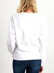 Cotton-Blend Long Sleeve Letter Shirts & Tops
