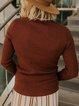 Casual Plain Long Sleeve Shift Sweater