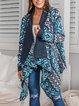 Mohair asymmetric boho cardigan